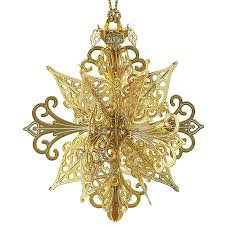 snowflake ornament 2016 chemart ornaments solid brass ornament