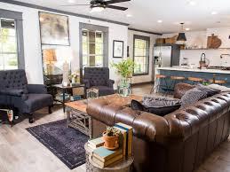 hgtv livingrooms hgtv fixer brick house is charm for newlyweds