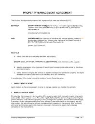 property management agreement template u0026 sample form biztree com