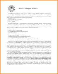 Disability Appeal Letter Financial Aid Cover Letter
