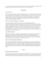 Example Of A Student Resume by Ithaca College Natural Lands Grant Proposal