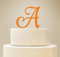 letter wedding cake toppers monogram cake topper monogram letter cake topper