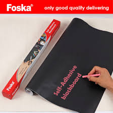 China Foska CPP SelfAdhesive Removable Wall Chalkboard Blackboard