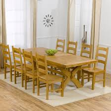 Oak Extending Dining Table And 8 Chairs Reclaimed Wood Dining Tables Rustic Farmhouse Style Fabulous