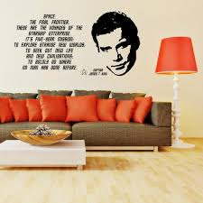 popular quotes for fashion buy cheap quotes for fashion lots from classic fashion star trek james t kirk william shatner quote vinyl wall art sticker decal bedroom