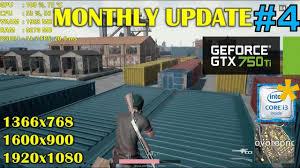 pubg 750 ti gtx 750 ti playerunknown s battlegrounds monthly update 4