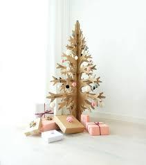 brown christmas tree image 132cm 4 33 brown cardboard laser cut modern cut out christmas tree