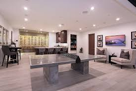 Laminate For Basement by Grey Laminate Flooring Basement Contemporary With Bar Bar Seating