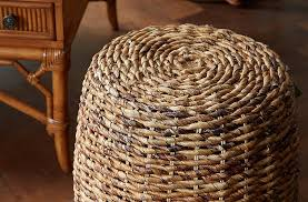 Wicker Accent Table Materials Guide Decorating With Wicker Raffia And Rattan