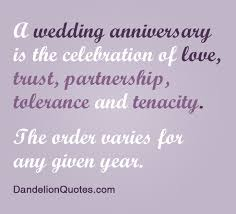 wedding quotes anniversary a wedding anniversary is the celebration of trust