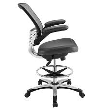 Desk Chair Amazon Com Modway Edge Drafting Chair In Gray Vinyl Reception