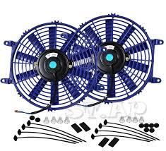 10 inch radiator fan 2x jdm 10 inch radiator fan thin electric 12v 1500cf blue