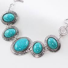 blue stone bracelet images Tibetan style silver chain bracelets with blue stones big round jpg