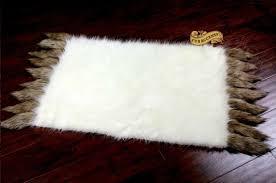 white buffalo polar bear area rug rectangle faux fur pelt rug