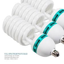 standard light bulb base size full spectrum light bulb four 45w photography photo cfl 6500k