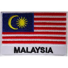 Ukrainian Flag Emoji Malaysia Flag Patch Embroidered Iron Sew On Malaysian Badge