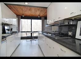 elegant galley kitchen designs white gloss kitchen cabinet wood