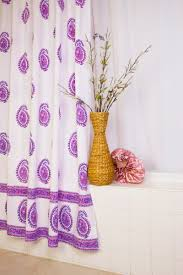 country style shower curtains purple fabric shower curtain