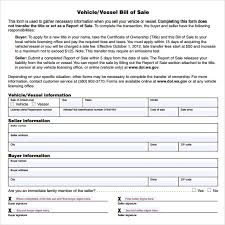 fillable bill of sale template