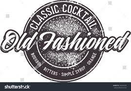 old fashioned cocktail illustration classic old fashioned cocktail stock vector 294569720 shutterstock