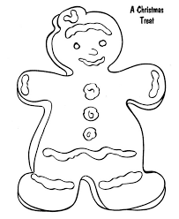 gingerbread as a christmas treat in gingerbread men coloring page