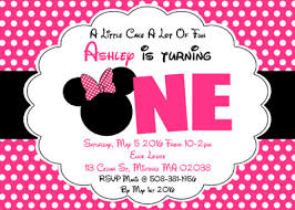 minnie mouse invitations minnie mouse inspired one birthday party invitations