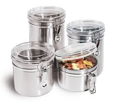Glass Kitchen Canister by Black Canister Sets For Kitchen Of The Functional Kitchen Canister