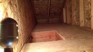 opened the attic door youtube