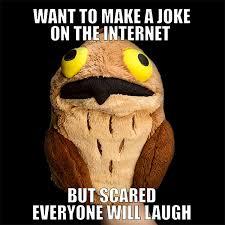 Potoo Bird Meme - potoo plush hand puppet thinkgeek