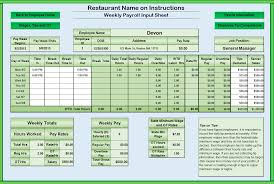 Income Statement Template Xls by Restaurant Income Statement Template Excel 5 Restaurant Income