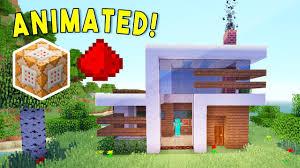 house animated animated self building redstone house youtube
