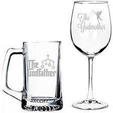 godmother wine glass all gifts the godfather mug and the godmother wine