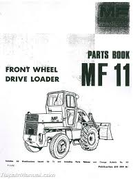 massey ferguson mf11 front end loader parts manual ebay