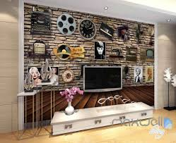 3d brick wall old machine retro poster wall paper wall mural 3d brick wall old machine retro poster wall paper wall mural decals art prints idcwp