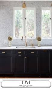 kitchen style black and white mosaic gallery with bronze