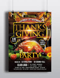 thanksgiving flyer template by arrow3000graphics on deviantart