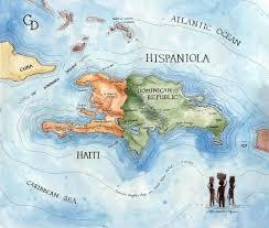 Haiti Map Sail Canvas Wallabout Bag With