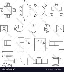 Floor Plan Objects Floor Plan Furniture Collection Stock Image House Vector Drawings