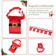 aliexpress com buy 8 pcs santa claus cup sleeve cover christmas