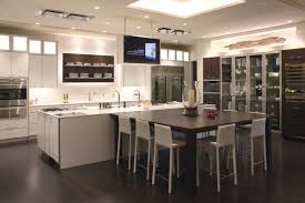 Galley Kitchens With Breakfast Bar Galley Kitchen Design Features High End White Cabinet With Long