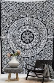 Hanging Wall Decor by Bird Camel Elephant Mandala Black And White Wall Hanging Wall
