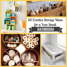 50 creative storage ideas for a your small bathroom homadein