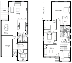 two story small house floor plans decoration modern house floor plans