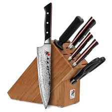 miyabi fusion knife block set 7 piece cutlery and more