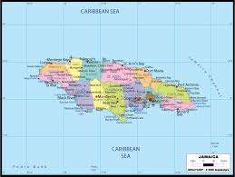 map usa to jamaica large political map of jamaica