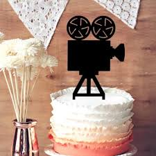 Movie Themed Cake Decorations Cake Toppers For Weddings Movie Camera Silhouette Cake Topper