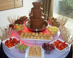 chocolate rentals popular items include strawberries maraschino cherries bananas