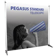 Stand Up Flag Banners Pegasus Telescopic Banner Stand Trade Show Pop Up Display