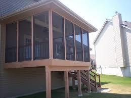 deck designs with a screened porch st louis decks screened