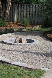 Firepit Area Fireplace Captivating Pea Gravel Pit For Your Outdoor Decor